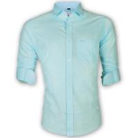 LAVELUX Premium Slim Solid Cotton Casual Shirt LMS153