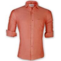 LAVELUX Premium Slim Solid Cotton Casual Shirt LMS159