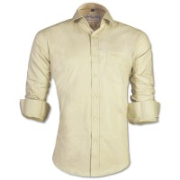 LAVELUX Premium Slim Solid Cotton Formal Shirt LMS412