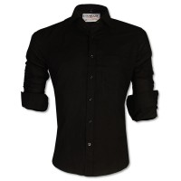 LAVELUX Premium Slim Solid Cotton Formal Shirt LMS414