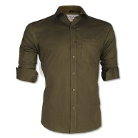 LAVELUX Premium Slim Solid Cotton Formal Shirt LMS420