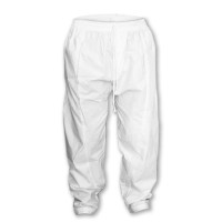 Khadi Kutir Mens Cotton Blend White Kabli Salwar Pants - Pajama SK700