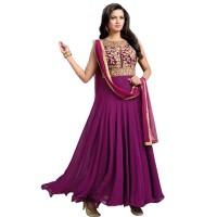 Mesmeric Purple Color Anarkali Suit WF043