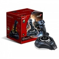 Genius Metal Strike Pro Joystick with Vibration, 13  Button