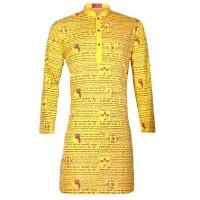 Puja  Special Printed Cotton Punjabi