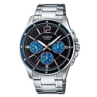 Casio Multi Functional Stainless Steel Gents Watch MTP 1374D 2AVDF