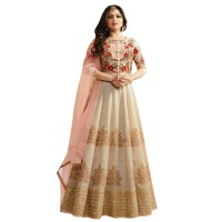 Nitya Silk Based Fabrics Embroidered Gown WF064
