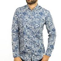 OBTAIN Premium Slim Fit Printed Casual Shirt OL734