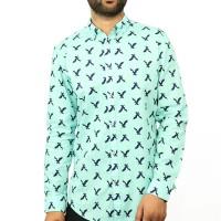 OBTAIN Premium Slim Fit Printed Casual Shirt OL738