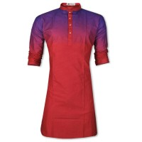 Exclusive Eid Special Shiny Red Printed Panjabi JP115
