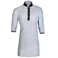 Rising Blue Storm Print Cotton Eid Panjabi With Mokmol Placket JC80