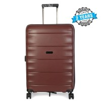 PRESIDENT 24 inch Hard case travel luggage  on 4-Wheels Suitcase Coffee PBL731