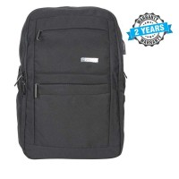 President Waterproof Unisex  Backpack  Nylon Black PBL801