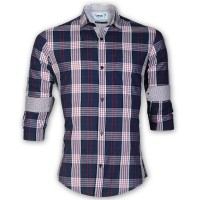 DEVIL Pure Cotton Casual Check Shirt  DE131