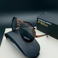 Exclusive  Porsche Design Sunglass - P'8811 Golden Replica Edition