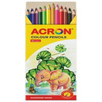 ACORN COLOUR PENCILS (12 COLORS)/ HEXAGONAL SHAPED (DRAWER BOX)