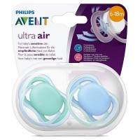 Philips AVENT Ultra Air Baby Soother Orthodontic Pacifiers 6-18 Months - Pack of 2