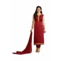 Exclusive Prachi Designer Salwar Suits Red 2016