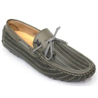 Men's Faux Lather Loafer FFS233- Olive Green
