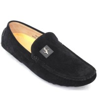 Men's Velvet Casual Loafer FFS229 - Black