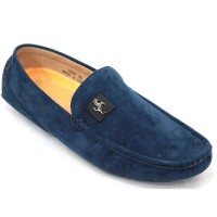 Men's Velvet Casual Loafer FFS230 - Blue