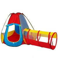 Kids House Play Tent With Tunnel 995-7012D
