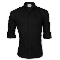 LAVELUX Premium Classic Fit Solid Cotton Formal Shirt LMS460