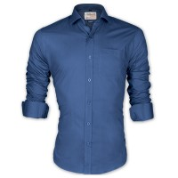 LAVELUX Premium Classic Fit Solid Cotton Formal Shirt LMS455