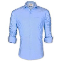 LAVELUX Premium Classic Fit Solid Cotton Formal Shirt LMS456