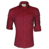 LAVELUX Premium Classic Fit Solid Cotton Formal Shirt LMS458