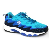 Sky Blue Fabric Sneakers Shoe For Men FFS714