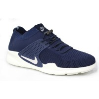 Blue Fabric Sneakers Shoe for Men FFS703
