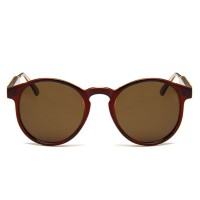 Vintage Brown Circle UV400 Trending Sunglasses RB706