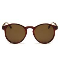 Vintage Brown Circle UV400 Trending Sunglasses RB706