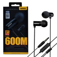 Original REMAX RM-600M Iron Unit  Music Bass Pure Metals Earphones