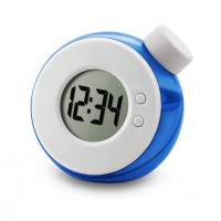 """Round Shaped Eco-Friendly Water Powered 0.9"""" LCD Clock"""