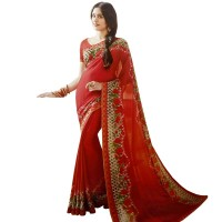 Pohela Boishakh Gorgeous Faux Georgette Saree VF111