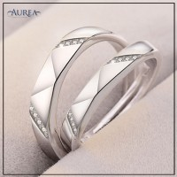 Valentine Special Clear Cubic Zirconia Promise Couple Rings SCR378