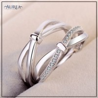 Valentine Special Clear Cubic Zirconia Promise Couple Rings SCR379
