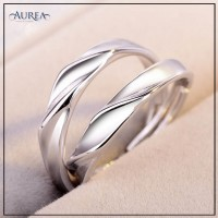 Valentine Special Clear Cubic Zirconia Promise Couple Rings SCR380