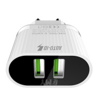 EMY Dual A202 Fast Charger With Data Cable for Android and iPhone
