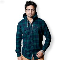 SIMPLE OUTFITS Premium Flannel Hooded Shirts SH276