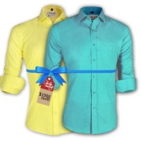 LAVELUX Premium Slim Solid Cotton Formal Shirts : Combo 48