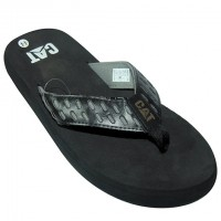 Stylish CAT Flip Flops Black