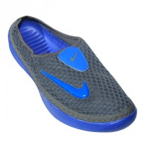 Stylish Nike Half Slipper Ash With Purple
