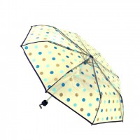 Folding Transparent Blue Ball Print Moon Umbrella