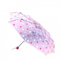 Folding Transparent Pink Ball Print Moon Umbrella