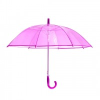 Smart Transparent Moon Umbrella Purple for Girls