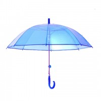 Smart Transparent Moon Umbrella Blue for Girls