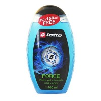 Lotto Shower Gel & Shampoo (Force) 400 ml LT904